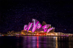 Opera House during Vivid Sydney. Taken in Sydney during Vivid Sydney Stock Image