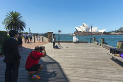 Opera house Wedding Photoraphy Stock Image