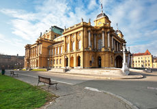 Opera house in Zagreb Stock Images