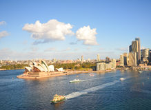 Opera i miasto, punkt zwrotny Sydney Zdjęcie Stock