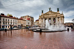 Opera in LVIV, UKRAINE Royalty Free Stock Images