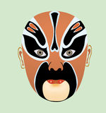 Opera mask. Beijing opera mask of ancient hero Royalty Free Stock Photography