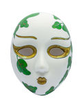 Opera Mask on white Background. Ancient Opera Mask on white Background Royalty Free Stock Photos