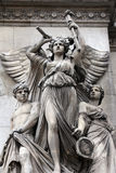 Opera National de Paris: Lyrical Drama Facade sculpture by Perraud Stock Image
