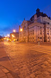 Opera at night in the Lviv Stock Images