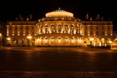 Opera by Night - Rennes , Brittany, France Stock Image