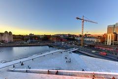 Opera Norvegia di casa di Oslo Fotografie Stock