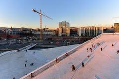 Opera Norvegia di casa di Oslo Immagini Stock