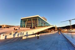 Opera Norvegia di casa di Oslo Immagine Stock