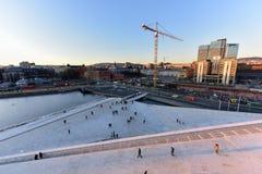 Opera Norvegia di casa di Oslo Fotografia Stock