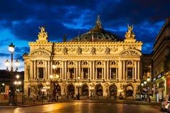 Opera obywatel de Paryż - Uroczysta opera przy nocą, (opera Garnier) zdjęcie stock