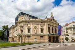 Opera- och balettteater av Ljubljana, Slovenien Fotografering för Bildbyråer
