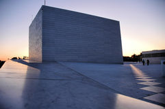 Opera of Oslo at sunset Royalty Free Stock Photography