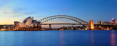 Opera & Panorama Royalty-vrije Stock Afbeeldingen
