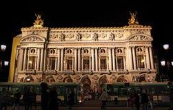 Opera of Paris at night Stock Photos
