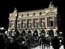 Opera in Paris at night stock illustration