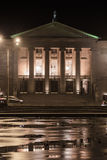 The opera in Poznan. At night Stock Photography