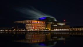 Opera real em Copenhaga fotos de stock
