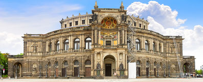 Opera Sasa Stan Opera, Dresden Fotografia Royalty Free