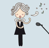 Opera Singer. Illustration of a cute opera singer Royalty Free Illustration