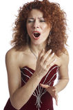 The opera singer Royalty Free Stock Images