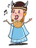 Opera singer illustration drawing cartoon and white background