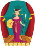 Opera singer on stage Royalty Free Stock Photos