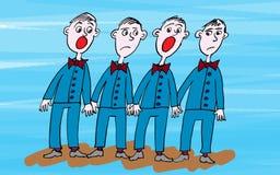 Opera Singers cartoon Stock Image
