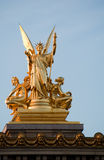 Opera statue 2. The statue on opera building in Paris, France stock photography