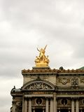 Opera Statue Paris. Statue on the Opera in Paris royalty free stock photography