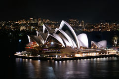 Opera of Sydney. At night Stock Image