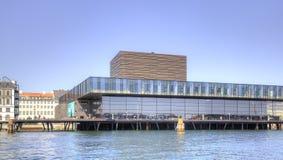 Opera teatr jest w mieście Kopenhaga Zdjęcia Stock