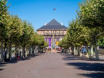 Opera and Theater building in Strasbourg stock photos