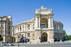An opera theater is in city Odessa Stock Images