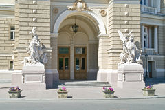 An opera theater is in city Odessa Stock Photo