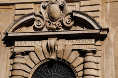 Opera theater Gioacchino Rossini Royalty Free Stock Images