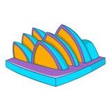 Opera theater icon, cartoon style. Opera theater icon. Cartoon illustration of opera vector icon for web design Royalty Free Stock Image