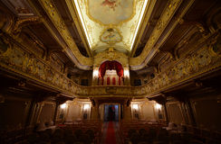 Opera Theater in Yusupov Palace, St. Petereburg, Russia. The ornate and elegant gold and red velvet opera theater in St. Petersburg, Russia& x27;s Yusupov Palace Stock Photography