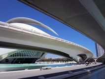 Opera theatre and bridge  in the city of arts and sciences in Valencia, Spain Stock Images