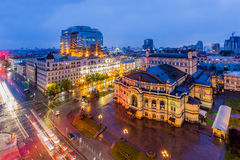 Opera theatre in Kyiv. The old Opera theatre in Kyiv royalty free stock image