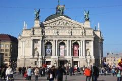 Opera theatre in Lviv. Stock Photos