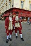 Opera tickets sellers. Vienna city in Austria Stock Photo