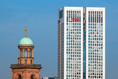 Opera Tower and Sankt Pauls Church Royalty Free Stock Photos