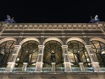The opera of Vienna by night - detail Royalty Free Stock Photography