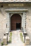 Opera Vittorio, Forte Bard, Aosta valley royalty free stock image