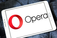 Opera web browser logo stock photography