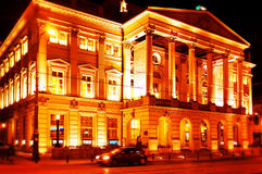 Opera in Wroclaw, Poland. Opera at night  in Wroclaw, Poland Royalty Free Stock Image