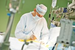 Operación de la cirugía de corazón imagen de archivo libre de regalías