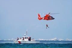 Operación de rescate del mar Imagen de archivo