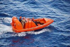Operación de rescate del océano Imagen de archivo libre de regalías